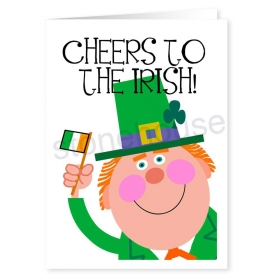 Cheers For The Irish Cute St Patricks Day Card