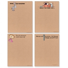 assorted funny adult notepads