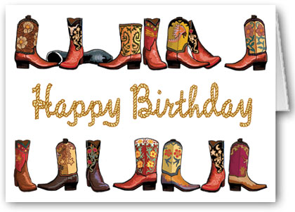 Stonehouse collection cowboy boots rope happy birthday