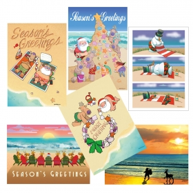 assorted beach christmas cards 3