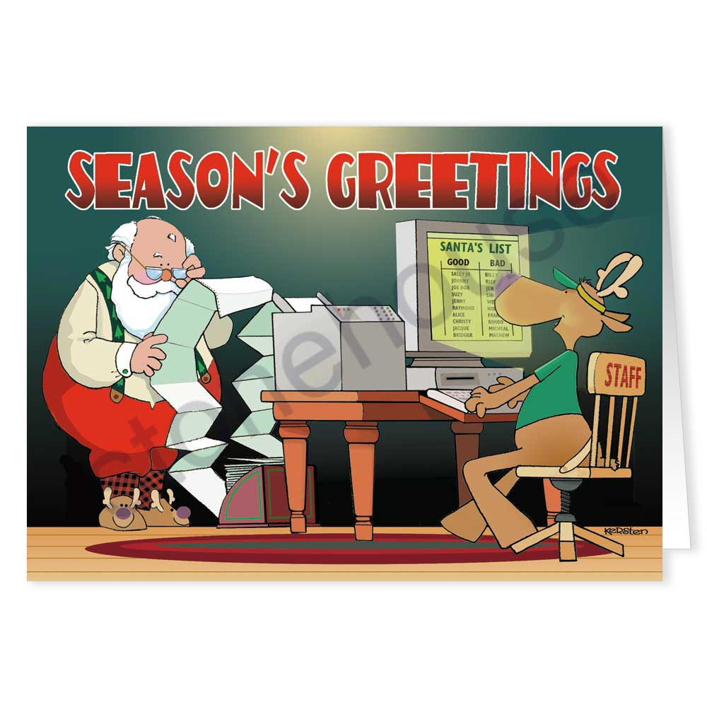 Stonehouse collection computer amp office santa christmas card