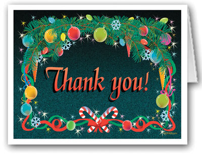 Holidays Thank You Note Card: Stonehouse Collection