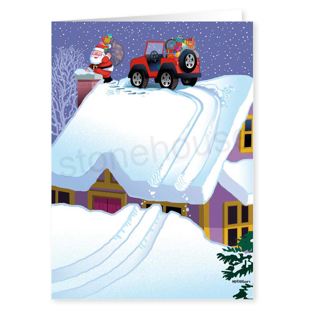 Stonehouse collection jeep christmas card