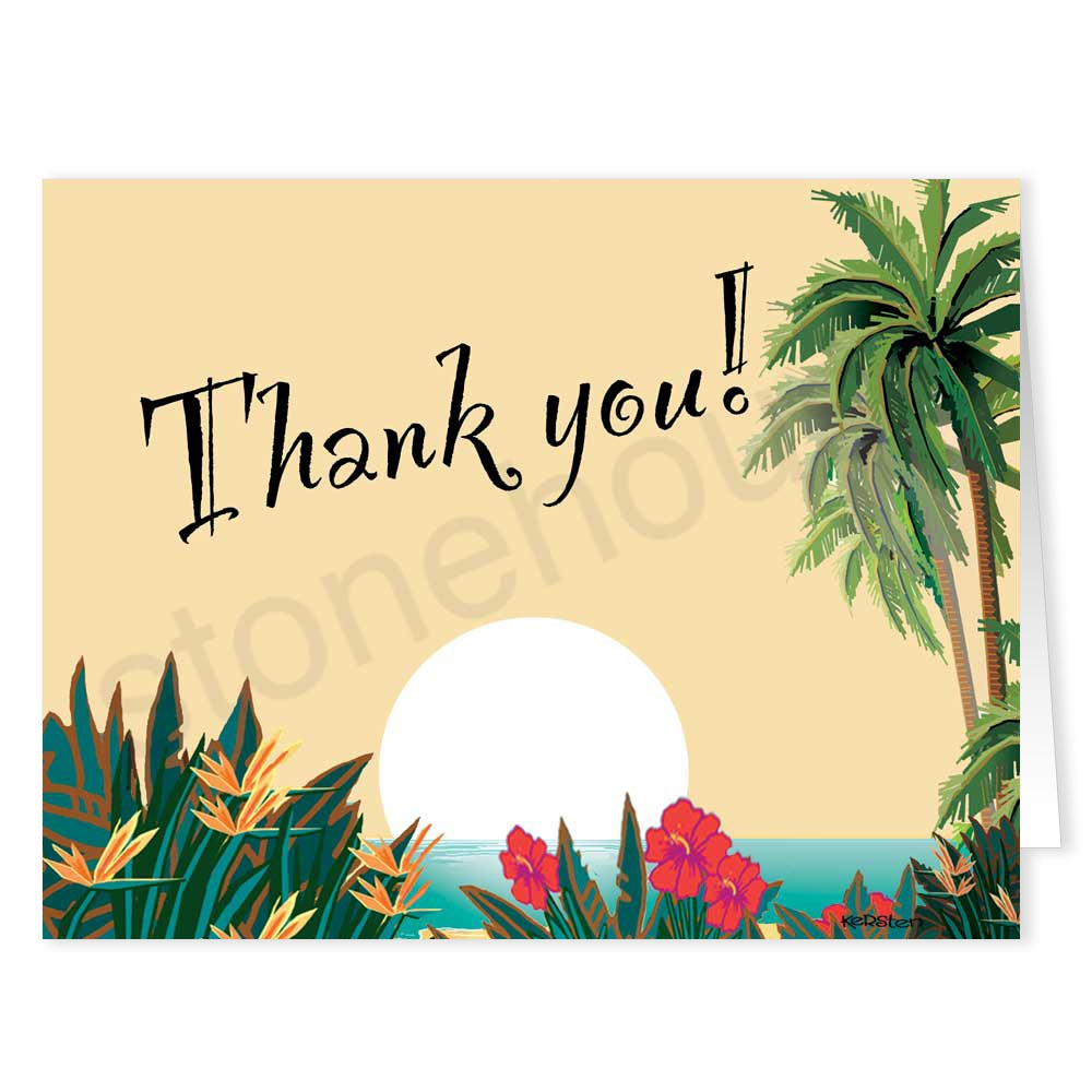 Fresh Beach Note Cards & Tropical Thank You Cards HD43