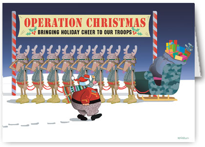 haber oaks art christmas cards for soldiers